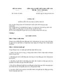 Thông tư số 74/2011/TT-BTC
