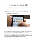 10 tính năng hàng đầu của iOS 5