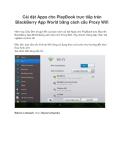 Cài đặt Apps cho PlayBook trực tiếp trên BlackBerry App World