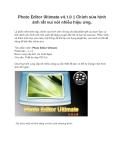 Photo Editor Ultimate v4.1.0  Chỉnh sửa hình ảnh rất vui với nhiều hiệu ứng