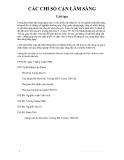 CÁC CHỈ SỐ CẬN LÂM SÀNG part 1