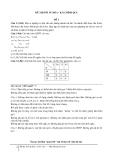 Đề thi Tối Ưu Hóa (Quy hoạch tuyến tính)