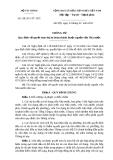 Thông tư số 19 /2011/TT- BTC