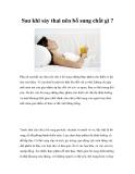 Sau khi sảy thai nên bổ sung chất gì?
