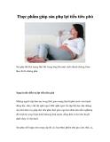 Thực phẩm giúp sản phụ lợi tiểu tiêu phù