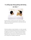 Vợ chồng ngủ chung giường ảnh hưởng sức khỏe?