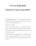 Oxy cao áp liệu pháp