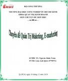 Chuyên đề Quản trị maketing, E-marketing