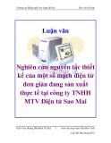Luận văn: Nghiên cứu nguyên tắc thiết kế của một số mạch điện tử đơn giản đang sản xuất thực tế tại công ty TNHH MTV Điện tử Sao Mai