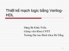 Thiết kế mạch logic bằng Verilog - HDL