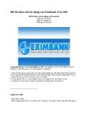 Đề thi nhân viên tín dụng vào Eximbank 23-8-2010