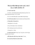 Thủ tục thẩm định giá nước sạch, mã số hồ sơ T-BPC-015354 -TT