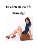 10 cách để có đôi chân đẹp
