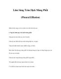 Lâm Sàng Tràn Dịch Màng Phổi (Pleural Effusion)