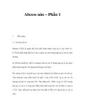 Abcess não – Phần 1