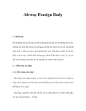 Airway Foreign Body