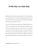 Tài liệu 10 dấu hiệu của bệnh thận