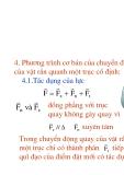 Vật lý đại cương - Động lực học vật rắn phần 2