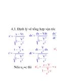 Vật lý đại cương - Thuyết tương đối hẹp Einstein phần 2