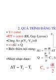 Vật lý đại cương - Nguyên lý thứ nhất nhiệt động lực học phần 2