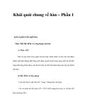 Khái quát chung về hàn – P1
