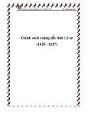 Chính sách ruộng đất thời Lê sơ (1428 - 1527)