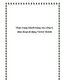 Thực trạng khách hàng của công ty điện thoại di động Viettel Mobile