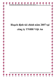 Hoạch định tài chính năm 2007 tại công ty TNHH Việt An
