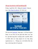 20 mẹo Facebook có thể bạn không biết