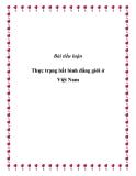 """Bài tiểu luận """"Thực trạng bất bình đẳng giới ở Việt Nam"""""""