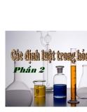 Chuyên đề ôn hóa học - Các định luật hóa học II