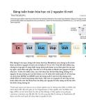 Bảng tuần hoàn hóa học có 2 nguyên tố mới  Đầu tháng 6 vừa qua, bảng tuần