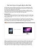 Các hình thức di chuyển tập tin đến iPad