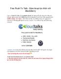 Free Push To Talk - Đàm thoại tức thời với BlackBerry