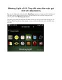 Missing Light v2.0.0 Thay đổi màu đèn cuộc gọi nhỡ trên BlackBerry