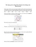 Sử dụng các công thức Excel cho bảng của Word 2010