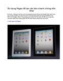 Sử dụng Pages để tạo văn bản nhanh chóng trên iPad Kì trước, chúng ta đã học
