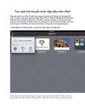 Tạo một bài thuyết trình hấp dẫn trên iPad Keynote dành cho iPad