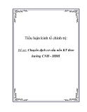 Tiểu luận khoa học chính trị: Chuyển dịch cơ cấu nền KT theo hướng CNH - HĐH