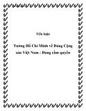 Tiểu luận Tưởng Hồ Chí Minh về Đảng Cộng sản Việt Nam - Đảng cầm quyền