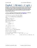 Chuyên đề 1: Bài toán bất đẳng thức