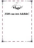 3500 cau test A&B&C