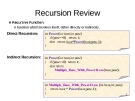 Recursion Review