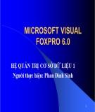 Bài giảng Microsoft visual foxpro 6.0 - Hệ quản trị cơ sở dữ liệu - Phan Đình Sinh