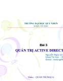 Bài 3: QUẢN TRỊ ACTIVE DIRECTORY