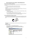 BÀI TẬP QTM NGANG HÀNG VỚI WINDOWS XP
