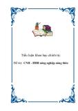 Tiểu luận KTCT: CNH - HĐH nông nghiệp nông thôn