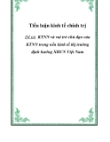 Tiểu luận KTCT: KTNN và vai trò chủ đạo của KTNN trong nền kinh tế thị trường định hướng XHCN Việt Nam