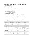 Công thức và bài tập luyện thi đại học môn Vật lý 12 - Chương 3