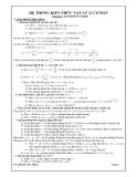 Kiến thức Vật lý lớp 12 Cơ bản